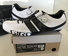 Giro Factor Techlace Mens US 13 EU47 Road Bike Shoes EC90 Carbon BOA White/black