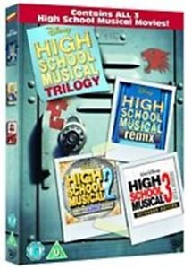 High School Musical Trilogy 1+2+3 New DVD Region 2