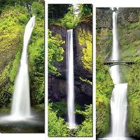 Horsetail Falls, Multnomah Falls & Latourell Falls; Three 6x18in Poster Prints