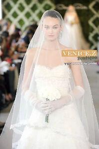 wv21 Soft Eyelash Lace Bridal Tulle Chapel Length Wedding Veil 3m White Ivory