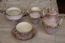 Pink Sevres porcelain Tea set French porcelain tea set Porcelain tea set egoist