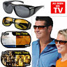 2X On TV Vision Driving Sunglasses Wrap Around Glasses As Seen Anti Glare UV