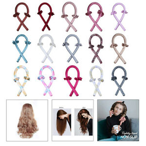 Heatless Curling Rod Headband Curls Silk Ribbon Set Hair Rollers Formers