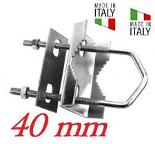 STAFFA A RINGHIERA PER ANTENNA PER PALO 25 - 40mm MADE IN ITALY ZINCATO