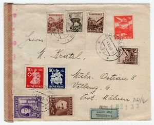 Slovenia 1943 WWII - OKW Germany Censor - Airmail Cover -