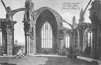 uk23411 high altar melrose abbey scotland real photo uk