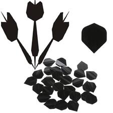 30 Pcs PET Dart Flights High Quality Simple Black Darts Accessories