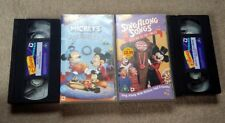 Disney Sing Along Songs VHS Tapes, Mickey Mouse & Christmas Carol vintage retro