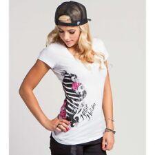 Metal Mulisha Ladies Bad Girl V-neck Tee Size M