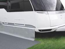 Bodenschürze Windblende 400 x 75 cm  - Hindermann PVC - hellgrau