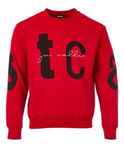 Just Cavalli  Red typography print sweatshirt size M