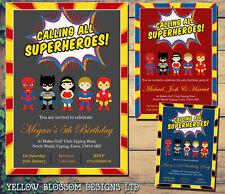buy superhero birthday invitations ebay