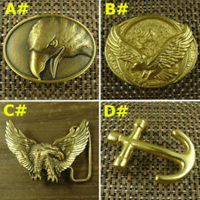Collectable Eagle / Anchor  Solid Brass  Belt Buckle Men's/Women's Belt Buckles