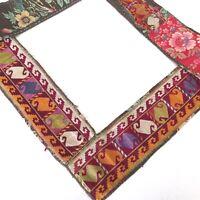 Antike Uzbek Suzani Embroidery Band Stickerei Seide auf Baumwolle Rot Silk Band