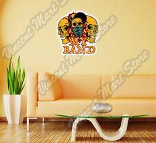 "My Band Gang Skull Dead Death Gift Idea Wall Sticker Room Interior Decor 22""X22"""