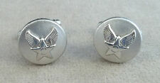 US Air Force 3/4 Inch Round Hap Arnold Cuff Link Set / NOS Pair
