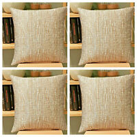 "X4 GOLD TEXTURED LUXURY QUALITY FABRIC - CUSHION COVER SHOP - 18x18"" / 45x45cm"