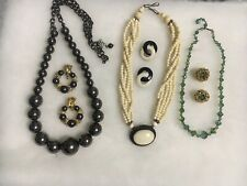 Sets W/ 1 Being Vintage. Used Beautiful Lot Of 3 Necklace & Earring