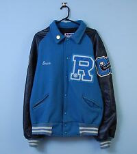 Vintage Varsity Jacket in Blue Letterman Baseball Bomber XL X-Large