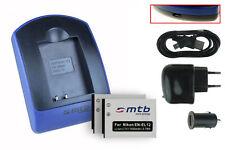 2x Baterìas + USB Cargador EN-EL12 para Nikon Coolpix S6000, S6100, S6150, S6200