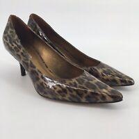 Via Spiga Womens Shoes Heels Animal Cheetah Leopard Print Pointed Toe Size 10