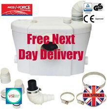SteriFlux ® Macerator Sanitary Pump Combi 3 in 1 Silent Pump WC Carbon Filter UK