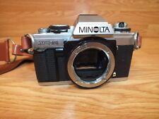 *For Parts* Genuine Minolta (Xg-M) Silver/Black 35mm Film Camera Body W/ Strap