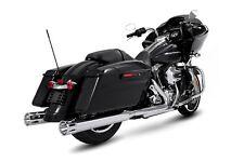 """Rinehart Moto Series Slip-Ons 4"""" Slip On Muffler Chrome / Chrome Slot End Caps"""
