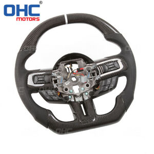 100% Real Carbon Fiber Steering Wheel for Ford Mustang