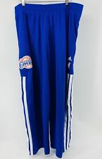 Adidas Men's Track Pants Basketball NBA Los Angeles Clippers Blue White Size 3XL