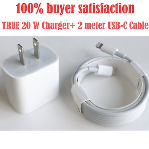 For iPad iPhone 12/11/12 Pro Max XR Fast Charger 20W USBC Power Adapter Cable