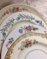 4 - Vintage Mismatched China Dessert Cake Bread Plates mix multi color # 172