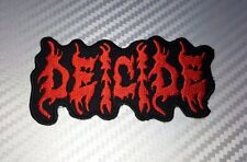 Embroidered Patch Iron Sew  Logo DEICIDE music rock thrash heavy metal punk song