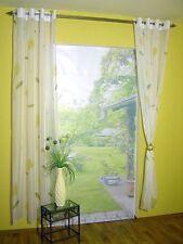 Ösenschal Garnitur Cala  weiß-gelb Vorhang