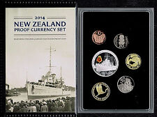 New Zealand -2014- Silver Proof Coin Set- HMS Achilles !!!Scarce