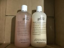 Philosophy Amazing Grace 3in1 Bath Gel And Olive Oil Scrub 16oz each