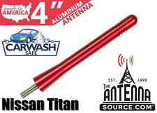 "**SHORT**  4"" ALUMINUM RED ANTENNA MAST-FITS: 2019-2020 Nissan Titan"