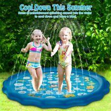 New listing Sprinkler Splash Pad Kids Toddlers 67 inch Water Spray Play Mat Backyard Pool Us