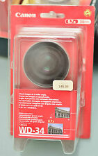 (PRL) CANON WD-34 CONVERTISSEUR VIDEO FOTO 34mm 0,7X LENS CONVERTER CONVERTITORE