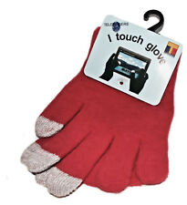 Touchscreen Handy PDA iPad iPod MP3 Player etc  Handy Handschuhe Rot  Größe S