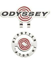 ODYSSEY Japan Golf Ball Marker Clip 5917100 Black Red