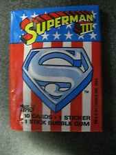 Topps Superman III Movie wax pack trading cards Non Sport DC comics