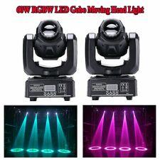 2PCS 60W RGBW Spot LED Moving Head Stage Light DMX Disco DJ Club Gobos Lighting