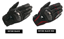RST390 RS Taichi Men Leather Motorcycle Racing Glove Black Red Full Finger Glove