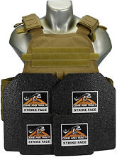 CATI Body Armor COYOTE MOPC Carrier Level 3 Base Coat Plates (AR) 500 10X12 6X6