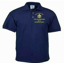 USS YELLOWSTONE  AD-27 TENDER NAVY EMBROIDERED LIGHT WEIGHT POLO SHIRT