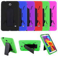 "Hybrid Impact Shockproof Case Cover +Stand For Samsung Galaxy Tab 4 7"" 8"" 10.1"""