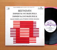 PCL 11024 Beethoven Symphony 1 & 2 William Steinberg 1965 PYE Mono Vinyl  NM/EX