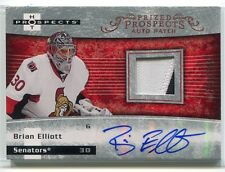 2007-08 Hot Prospects 227 Brian Elliott Rookie Patch Auto 208/399