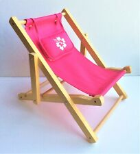 Build A Bear Pink Adjustable Beach Lounge Chair